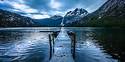 Stormy Evening at Sliver lake Dock