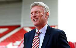 Sunderland manager David Moyes smiles on arrival at The Bet365 Stadium for the Premier League fixture with Stoke City - Mandatory by-line: Robbie Stephenson/JMP - 15/10/2016 - FOOTBALL - Bet365 Stadium - Stoke-on-Trent, England - Stoke City v Sunderland - Premier League