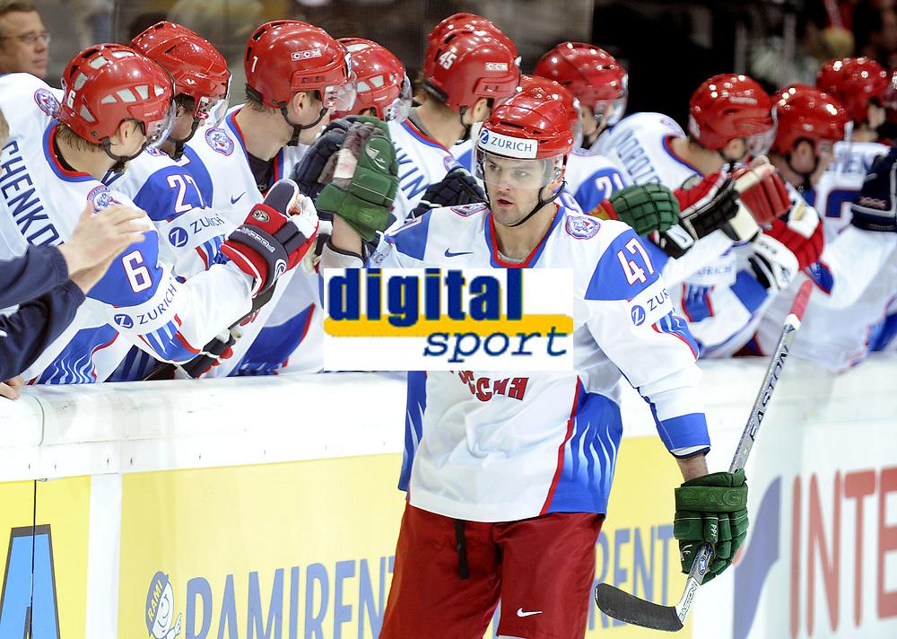 Jubel bei Alexander Radulov (RUS) und dem Team zum 4:0 © Melanie Duchene/EQ Images