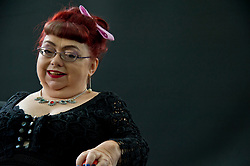 Pictured: Penny Pepper is a genre-defying writer and well-known rights activist. She wrote the taboo-breaking book Desires Reborn in 2012, and in 2013 she won a Creative Futures Literary Award. In 2014 her one-woman spoken word show, Lost in Spaces, premiered to strong reviews at Soho Theatre<br /> <br /> <br /> Book fanatics headed to Charlotte Square in Edinburgh which is the hub of the international Book Festival to meet the authors and also to meet up with fellow fans of the printed word.<br /> <br /> <br /> Ger Harley | EEm 18 August 2017
