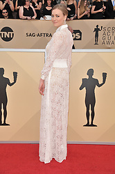 Maria Dolores Dieguez arrives at the 24th annual Screen Actors Guild Awards at The Shrine Exposition Center on January 21, 2018 in Los Angeles, California. <br /><br />(Photo by Sthanlee Mirador/Sipa USA)
