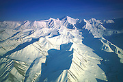 Snow capped Alaska Range, Alaska