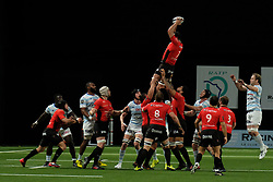 April 8, 2018 - Nanterre, Hauts de Seine, France - RC Toulon Flanker MAMUKA GORGODZE in action during the French rugby championship Top 14 match between Racing 92 and RC Toulon at U Arena Stadium in Nanterre - France..Racing 92 Won  17-13. (Credit Image: © Pierre Stevenin via ZUMA Wire)