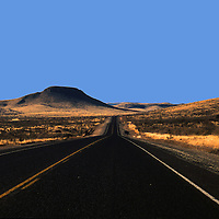 USA, Texas, Big Bend National Park. Scenic highway leading to Big Bend National Park, the largest and also the least visted of the U.S. National Parks.