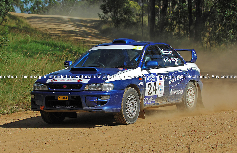 John MURRAY & Robert SELBY WOOD - Subaru Impreza WRX.Heat 1.Red Devil Energy Drink Rally of Queensland.Sunshine Coast, QLD.9th of May 2009.(C) Joel Strickland Photographics.Use information: This image is intended for Editorial use only (e.g. news or commentary, print or electronic). Any commercial or promotional use requires additional clearance.