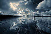 Rain on Blackpool's North Pier - Blackpool, Lancashire, England