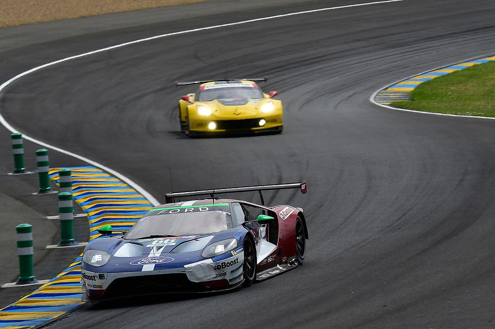 #66 Ford Chip Ganassi Racing Ford GT: Stefan Mücke, Olivier Pla, Billy Johnson<br /> Saturday 16 June 2018<br /> 24 Hours of Le Mans<br /> 2018 24 Hours of Le Mans<br /> Circuit de la Sarthe  FR<br /> World Copyright: Scott R LePage