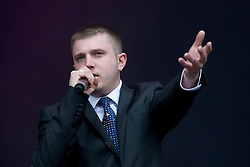 Ben Drew of Plan B on the main stage..Rockness, Saturday 12th June 2010..Pic ©2010 Michael Schofield. All Rights Reserved.