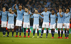 February 24, 2019 - London, England, United Kingdom - Manchester City players waiting for they penalty.during during Carabao Cup Final between Chelsea and Manchester City at Wembley stadium , London, England on 24 Feb 2019. (Credit Image: © Action Foto Sport/NurPhoto via ZUMA Press)