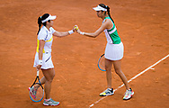 Latisha Chan and Hao-Ching Chan of Chinese Taipeh in action during the doubles quarter-final at the 2021 Internazionali BNL d'Italia, WTA 1000 tennis tournament on May 14, 2021 at Foro Italico in Rome, Italy - Photo Rob Prange / Spain ProSportsImages / DPPI / ProSportsImages / DPPI