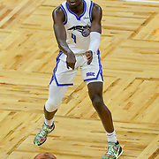 ORLANDO, FL - APRIL 12: Karim Mane #4 of the Orlando Magic passes the ball against the San Antonio Spurs at Amway Center on April 12, 2021 in Orlando, Florida. NOTE TO USER: User expressly acknowledges and agrees that, by downloading and or using this photograph, User is consenting to the terms and conditions of the Getty Images License Agreement. (Photo by Alex Menendez/Getty Images)*** Local Caption *** Karim Mane
