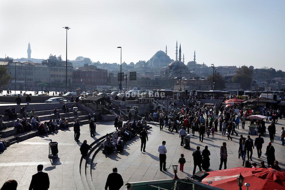 old Istanbul waterfront Rustempasa area by the Galata Bridge