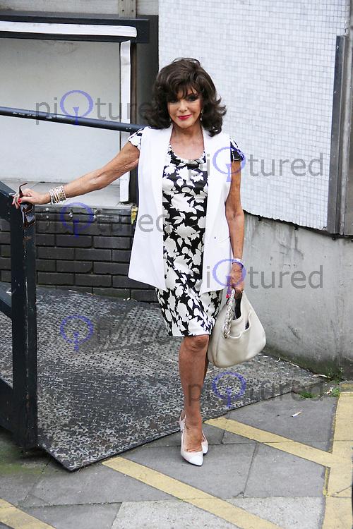 Joan Collins, ITV Studios, London UK, 08 September 2014, Photo by Brett D. Cove