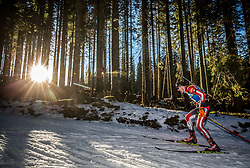 Dominik Landertinger (AUT) in action during the Men 10km Sprint at day 6 of IBU Biathlon World Cup 2018/19 Pokljuka, on December 7, 2018 in Rudno polje, Pokljuka, Pokljuka, Slovenia. Photo by Vid Ponikvar / Sportida