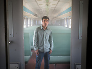 Ezmet, a uighur man on his way back to Yarkand, after taking english exam in Hotan.