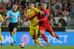 March 22, 2019 - Na - Lisbon, 03/22/2019 - The Portuguese Football Team received this afternoon their Ukrainian counterpart at the Estádio da Luz in Lisbon, in the Group B game, in the qualifying round for the 2020 European Championship. Cristiano Ronaldo; Ruslan Malinovskyi  (Credit Image: © Atlantico Press via ZUMA Wire)