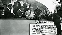 1915 D.W. Griffith at a WWI war bond drive