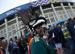 June 14, 2018 - Moscow, Russia - Group A Russia v Saudi Arabia - FIFA World Cup Russia 2018.A mexican fan at Luzhniki Stadium in Moscow, Russia on June 14, 2018..Photo Matteo Ciambelli / NurPhoto  (Credit Image: © Matteo Ciambelli/NurPhoto via ZUMA Press)
