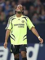 Photo: Maarten Straetemans/Sportsbeat Images.<br /> Shalke 04 v Chelsea. UEFA Champions League. 06/11/2007.<br /> Didier Drogba of Chelsea