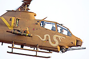 Israeli Air force helicopter, Bell AH-1F Cobra in flight.