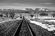 Leaving Gillette, WY the rail west heads across open country towards Billings, MT.