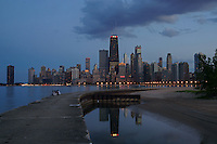 Chicago Skyline, North Avenue Beach