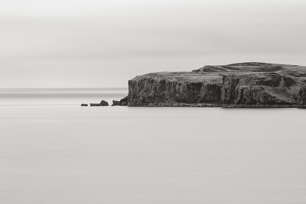 A 75-second exposure of the Isle of Wiay, taken from the Isle of Syke, with a 200 mm telephoto lens.