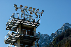 Lights at preparation of Planica Hill 2 weeks before FIS Ski Flying World Championships 2020, on November 25, 2020 in Planica, Slovenia. Photo by Matic Klansek Velej / Sportida