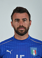 FLORENCE, ITALY - JUNE 01:  Andrea Barzagli of Italy poses for a photo ahead of the UEFA Euro 2016 at Coverciano on June 1, 2016 in Florence, Italy.  Foto Claudio Villa/FIGC Press Office/Insidefoto