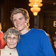 NLD/Amsterdam/20190221- boekpresentatie Daphne Deckers:  'Dubbel Zes', Alec Deckers met zijn oma