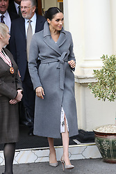 December 18, 2018 - London, London, United Kingdom - Image licensed to i-Images Picture Agency. 18/12/2018. London, United Kingdom.  Meghan Markle, The Duchess of Sussex, leaving  a visit to Brinsworth House, the Royal Variety Charity's residential nursing and care home  in Twickenham, United Kingdom. (Credit Image: © Stephen Lock/i-Images via ZUMA Press)