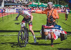 08.09.2018, Lienz, AUT, 31. Red Bull Dolomitenmann 2018, im Bild Geismayr Daniel (AUT, Kolland Topsport Professional), Maurer Chrigel (CHI, Kolland Topsport Professional) // Geismayr Daniel (AUT, Kolland Topsport Professional), Maurer Chrigel (CHI, Kolland Topsport Professional) during the 31th Red Bull Dolomitenmann. Lienz, Austria on 2018/09/08, EXPA Pictures © 2018, PhotoCredit: EXPA/ JFK