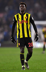 Watford's Domingos Quina during the Premier League match at the Cardiff City Stadium.