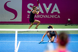 PORTOROZ, SLOVENIA - SEPTEMBER 18: Tereza Mihalikova of Slovakia and Anna Kalinskaya of Russia compete during the Semifinals of WTA 250 Zavarovalnica Sava Portoroz at SRC Marina, on September 18, 2021 in Portoroz / Portorose, Slovenia. Photo by Matic Klansek Velej / Sportida