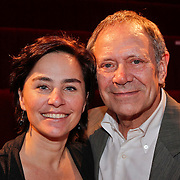 NLD/Hilversum/20101124 - Uitreiking boek 50 jaar Edison, de geschiedenis van de Muziekprijs, Rob de Nijs en partner Henriette Koetsruiter