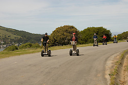 People on Segways on Angel Island in San Francisco Bay, California, CA..Photo camari226-70386..Photo copyright Lee Foster, www.fostertravel.com, 510-549-2202, lee@fostertravel.com