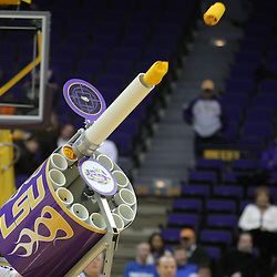 Jan 04, 2010; Baton Rouge, LA, USA; A gatling gun fires t-shirts to fans during a time out of a game between the LSU Tigers and the McNeese State Cowboys at the Pete Maravich Assembly Center.  Mandatory Credit: Derick E. Hingle-US PRESSWIRE