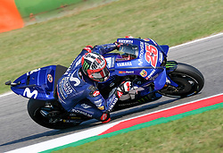 September 7, 2018 - 25 MAVERICK VINALES from Spain, Movistar Yamaha MotoGP Team, Yamaha YZR-M1 2018, Gran Premio Octo di San Marino e della Riviera di Rimini, during the Friday FP1 at the Marco Simoncelli World Circuit for the 13th round of MotoGP World Championship, from September 7th to 9th, 2018. (Credit Image: © AFP7 via ZUMA Wire)