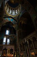 Tbilisi , Georgia - August 25, 2019 : Sioni cathedral indoors landmark of Tbilisi Georgia capital city eastern Europe