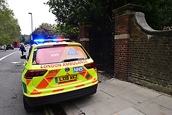 © Licensed to London News Pictures. 05/10/2020. London, UK. The scene at La Sainte Union Catholic School in Highgate, Camden where a number of students were taken to hospital they fell ill 'eating sweets'. Photo credit: Ben Cawthra/LNP