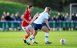Olivia Chance of Bristol City tries to get past Josie Green of Tottenham Hotspur Women- Mandatory by-line: Nizaam Jones/JMP - 27/10/2019 - FOOTBALL - Stoke Gifford Stadium - Bristol, England - Bristol City Women v Tottenham Hotspur Women - Barclays FA Women's Super League