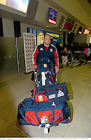 3 June 2013; Rory Best, British & Irish Lions, at Perth International Airport upon the squad's arrival in Australia for the British & Irish Lions Tour 2013. Perth International Airport, Perth, Australia. Picture credit: Stephen McCarthy / SPORTSFILE