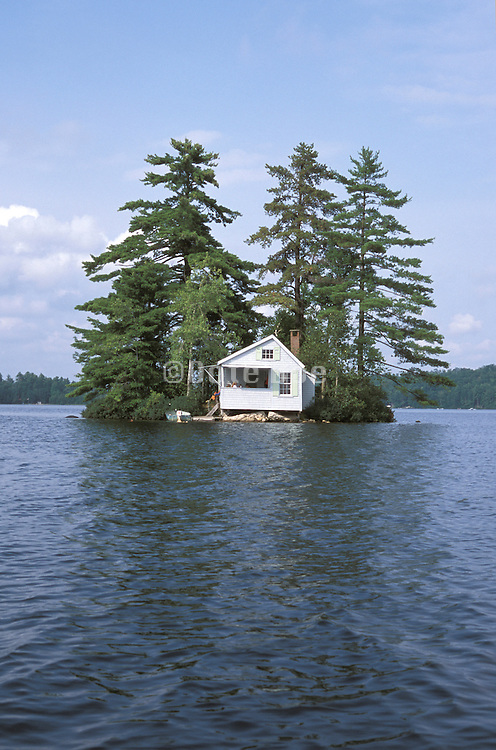 Isolated house across the water