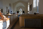 Inside village church of Saint Michael, Tunstall, Suffolk, England, UK