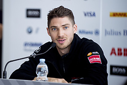 April 13, 2018 - Rome, Italy - Edoardo Mortara (CHE) of Venturi Formula E Team attending the press conference during the FIA Formula E Championship Day One Rome E-Prix 2018 at Circuto Cittadino dellEUR, Rome, Italy on 13 April 2018. (Credit Image: © Giuseppe Maffia/NurPhoto via ZUMA Press)