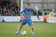 Nicky Featherstone (Captain) (Hartlepool United) during the EFL Sky Bet League 2 match between Hartlepool United and Carlisle United at Victoria Park, Hartlepool, England on 14 April 2017. Photo by Mark P Doherty.