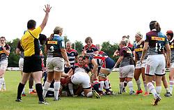 Carys Phillips of Bristol Ladies scores a try - Mandatory by-line: Robbie Stephenson/JMP - 18/09/2016 - RUGBY - Cleve RFC - Bristol, England - Bristol Ladies Rugby v Aylesford Bulls Ladies - RFU Women's Premiership