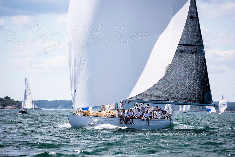 Valiant sailing in the Marblehead Corinthian Classic Yacht Regatta, day two.