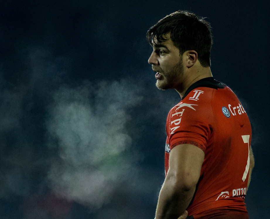 Toulon's Facundo Isa<br /> <br /> Photographer Bob Bradford/CameraSport<br /> <br /> European Rugby Champions Cup Pool 5 - Bath Rugby v Toulon - Saturday 16th December 2017 - The Recreation Ground - Bath<br /> <br /> World Copyright © 2017 CameraSport. All rights reserved. 43 Linden Ave. Countesthorpe. Leicester. England. LE8 5PG - Tel: +44 (0) 116 277 4147 - admin@camerasport.com - www.camerasport.com