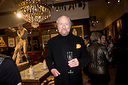 ED VICTOR, Preview party for the Versace Sale.  The contents of fashion designer Gianni Versace's villa on Lake Como. Sothebys. Old Bond St. London. 16 March 2009.  *** Local Caption *** -DO NOT ARCHIVE -Copyright Photograph by Dafydd Jones. 248 Clapham Rd. London SW9 0PZ. Tel 0207 820 0771. www.dafjones.com<br /> ED VICTOR, Preview party for the Versace Sale.  The contents of fashion designer Gianni Versace's villa on Lake Como. Sothebys. Old Bond St. London. 16 March 2009.